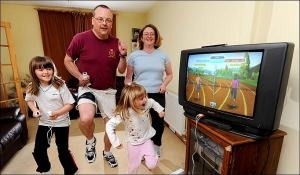 Wii futóverseny a nappaliból