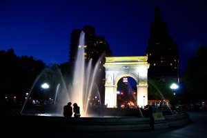 washington square by night