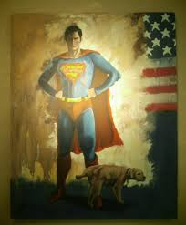 superman with a dog