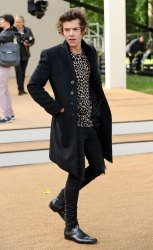 Harry Styles at the Burberry Prorsum show