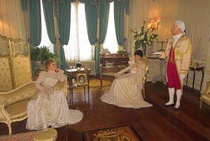 Waxwork figures recreate exactly a Royal Weekend Party staged at the castle in 1898
