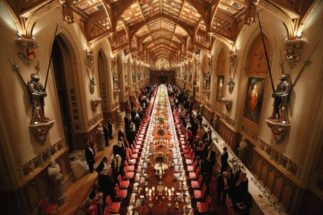 A State banquet in Windsor Castle